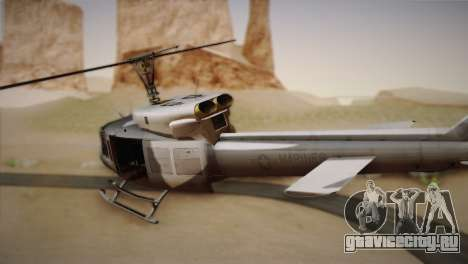 Bell UH-1N Twin Huey USMC для GTA San Andreas вид слева