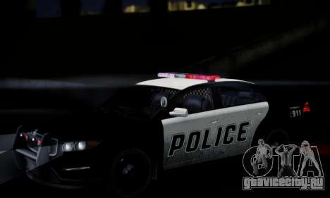 Vapid Police Interceptor from GTA V для GTA San Andreas вид сверху