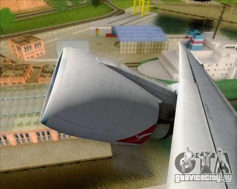 Airbus A330-200 Qantas Oneworld Livery для GTA San Andreas вид изнутри