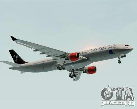 Airbus A330-300 SAS (Star Alliance Livery) для GTA San Andreas вид сбоку