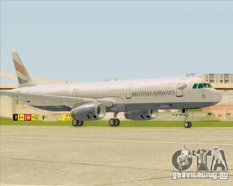 Airbus A321-200 British Airways для GTA San Andreas вид слева