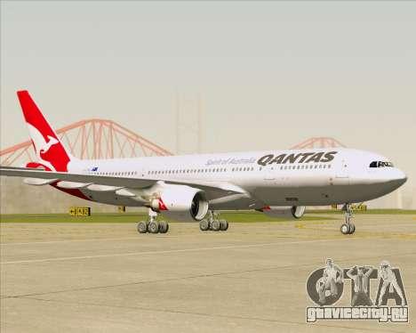 Airbus A330-200 Qantas для GTA San Andreas вид слева