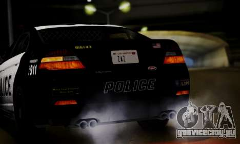 Vapid Police Interceptor from GTA V для GTA San Andreas вид сзади
