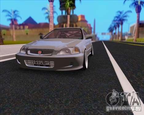 Honda Civic EM1 V2 для GTA San Andreas вид изнутри