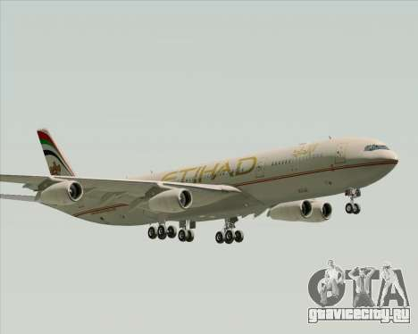 Airbus A340-313 Etihad Airways для GTA San Andreas вид сзади слева