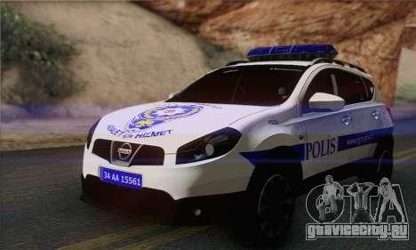 Nissan Qashqai TR POLİS для GTA San Andreas