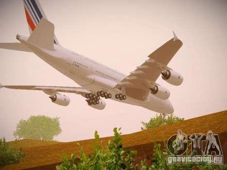Airbus A380-800 Air France для GTA San Andreas вид снизу