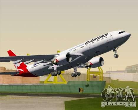 Airbus A330-200 Qantas для GTA San Andreas салон