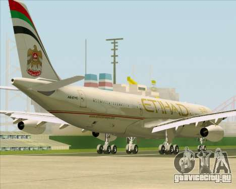 Airbus A340-313 Etihad Airways для GTA San Andreas колёса