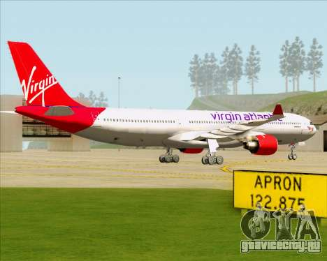 Airbus A330-300 Virgin Atlantic Airways для GTA San Andreas вид сзади слева