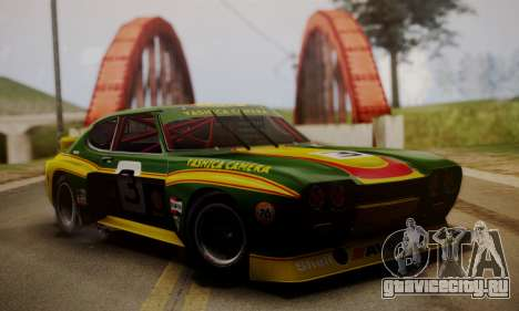 Ford Capri RS Cosworth 1974 Skinpack 2 для GTA San Andreas вид справа