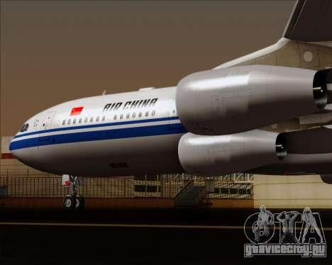 Airbus A340-313 Air China для GTA San Andreas вид снизу