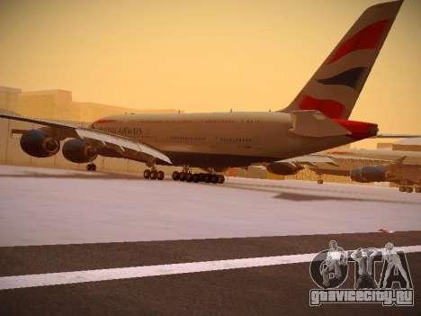 Airbus A380-800 British Airways для GTA San Andreas вид сбоку