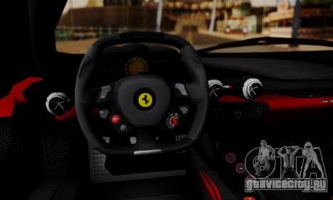 Ferrari LaFerrari F70 2014 для GTA San Andreas колёса