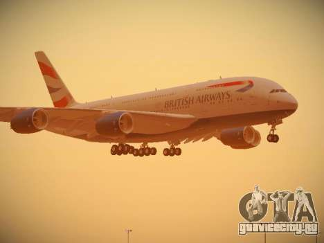 Airbus A380-800 British Airways для GTA San Andreas колёса