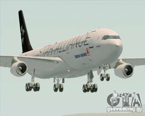 Airbus A340-311 Turkish Airlines (Star Alliance) для GTA San Andreas вид сзади