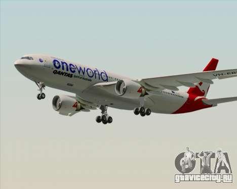 Airbus A330-200 Qantas Oneworld Livery для GTA San Andreas вид справа