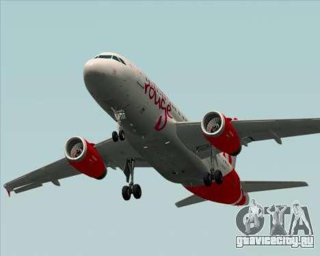 Airbus A319 Air Canada Rouge для GTA San Andreas вид сверху