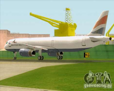 Airbus A321-200 British Airways для GTA San Andreas вид справа