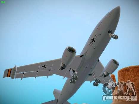 Airbus A310 MRTT Luftwaffe (German Air Force) для GTA San Andreas вид изнутри