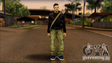Gun and No Shades Claude для GTA San Andreas