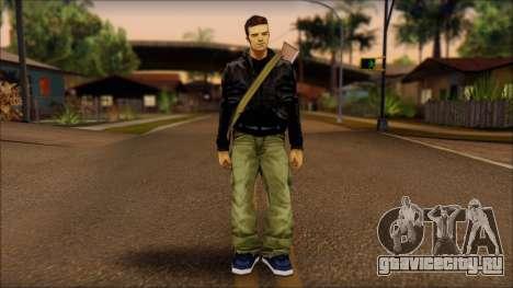 Gun and No Shades Claude для GTA San Andreas