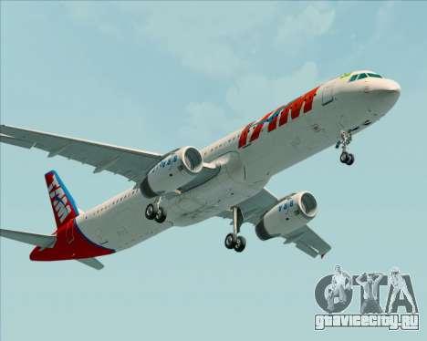 Airbus A321-200 TAM Airlines для GTA San Andreas вид сзади слева