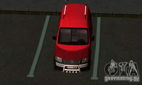Volkswagen Caddy для GTA San Andreas вид справа