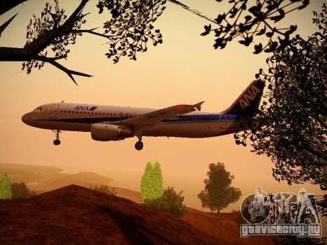 Airbus A320-211 All Nippon Airways для GTA San Andreas салон