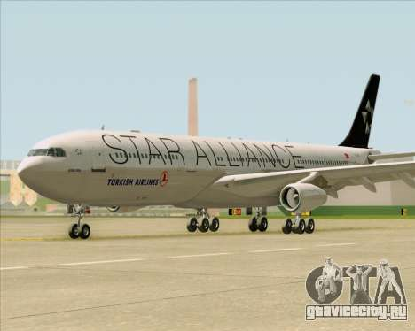 Airbus A340-311 Turkish Airlines (Star Alliance) для GTA San Andreas вид изнутри