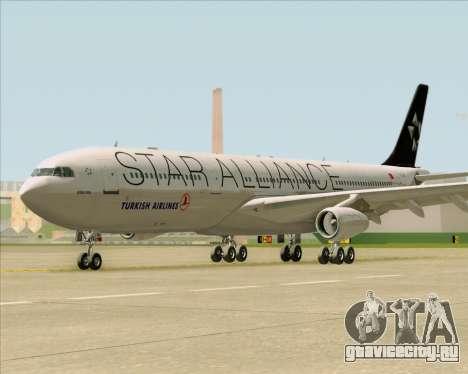 Airbus A340-311 Turkish Airlines (Star Alliance) для GTA San Andreas вид изнутри