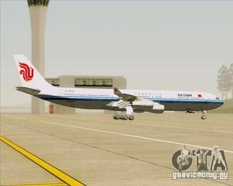 Airbus A340-313 Air China для GTA San Andreas вид изнутри