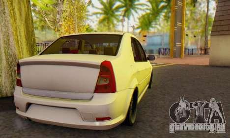 Dacia Logan White для GTA San Andreas вид справа