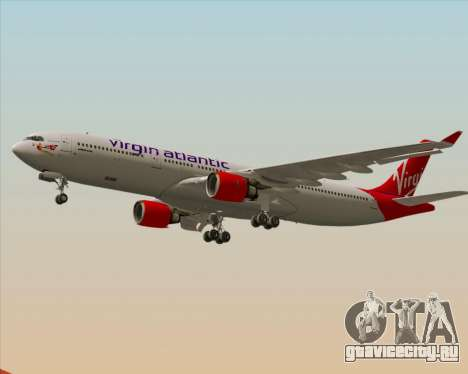 Airbus A330-300 Virgin Atlantic Airways для GTA San Andreas вид снизу