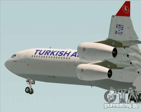 Airbus A340-313 Turkish Airlines для GTA San Andreas вид снизу