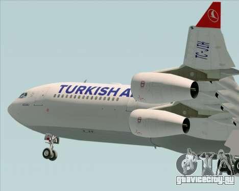 Airbus A340-313 Turkish Airlines для GTA San Andreas вид снизу