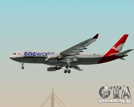 Airbus A330-200 Qantas Oneworld Livery для GTA San Andreas вид снизу
