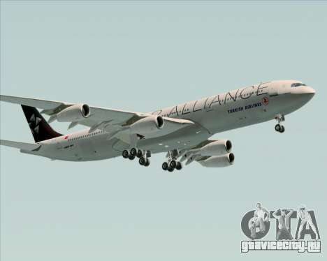 Airbus A340-311 Turkish Airlines (Star Alliance) для GTA San Andreas салон