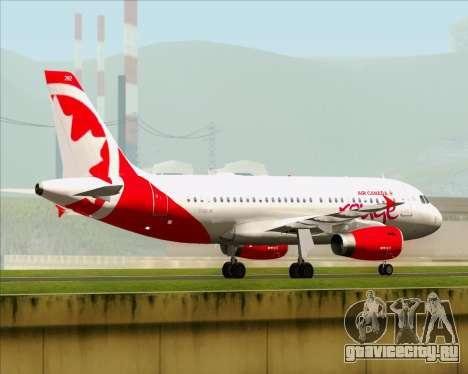 Airbus A319 Air Canada Rouge для GTA San Andreas вид сзади