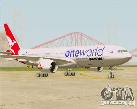 Airbus A330-200 Qantas Oneworld Livery для GTA San Andreas вид сзади слева