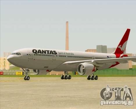 Airbus A330-200 Qantas для GTA San Andreas вид сзади слева