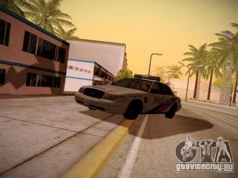 Ford Crown Victoria Toronto Police Service для GTA San Andreas вид сзади
