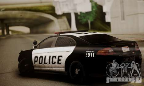 Vapid Police Interceptor from GTA V для GTA San Andreas вид сзади слева