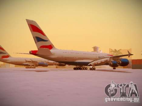 Airbus A380-800 British Airways для GTA San Andreas вид сверху