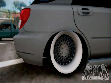 Subaru Impreza Wagon 2002 для GTA San Andreas вид справа