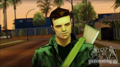 Gun and No Shades Claude для GTA San Andreas третий скриншот