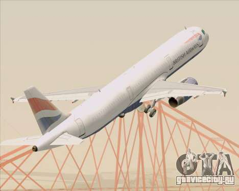 Airbus A321-200 British Airways для GTA San Andreas