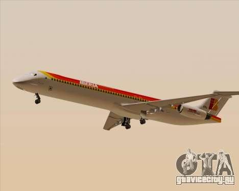 McDonnell Douglas MD-82 Iberia для GTA San Andreas вид сзади слева