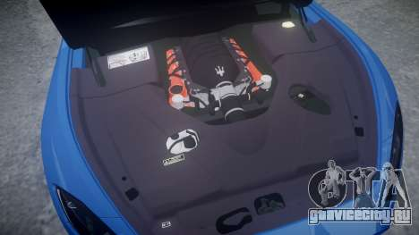Maserati GranTurismo MC Stradale 2014 [Updated] для GTA 4 вид изнутри