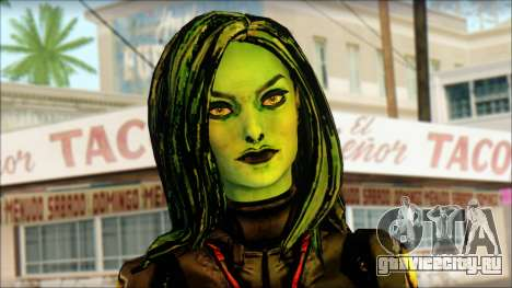 Guardians of the Galaxy Gamora v1 для GTA San Andreas третий скриншот